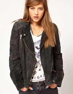Enlarge Maison Scotch Leather Biker Jacket