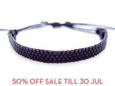 SALE  Black Unisex Cord Bracelet by JeannieRichard, $10.00