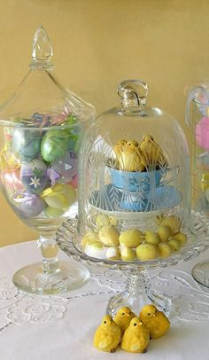 Cloche...Easter centerpiece