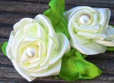 Fabric flower tutorial-   modelo de Rosa em Fita Passo a Passo