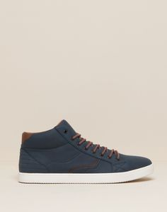 Pull&Bear Sneaker in with brown detailing jL1dD7m