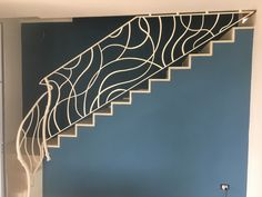 Ringhiera scala ferro battuto moderna bianca Wrought iron railing stair modern white