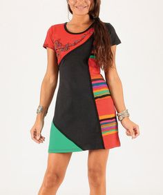 Another great find on #zulily! Red Color Block Stripe Dress #zulilyfinds