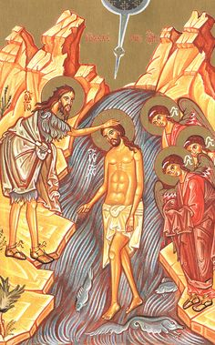 Forefeast of the Theophany of our Lord and Savior Jesus Christ - Orthodox Church in America Greek Icons, Orthodox Easter, Holy Rosary, Holy Week, Religious Icons, Lord And Savior, Orthodox Icons, Epiphany, New Testament