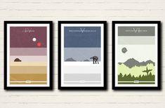 Star Wars Series Poster Set, Art Print Collection, 11 X 17, Minimalist Poster, Home Decor
