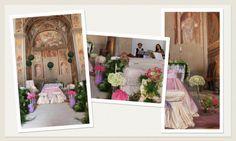Addobbo Chiesa Stile Moderno: avorio, fucsia, viola. #addobbi #fiorichiesa #ortensia #matrimonioviola