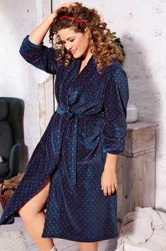 49a7e4841147ad Bademantel #ullapopken #dots #punkte #bademantel #plussize Mode Für Mollige  Frauen,