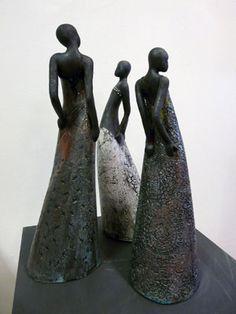 Ceramic Figures, Clay Figures, Ceramic Jewelry, Ceramic Art, Ceramic Sculpture Figurative, Ceramic Sculptures, Masks Art, Yard Art, Art Music