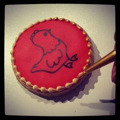 Painting with gold this afternoon.  #sweethandmadecookies #customcookies #decoratedcookies #designercookies #cookies #bradfordontariocookies #christmascookies #barnyardanimalcookies