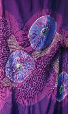 shibori | by glennisd, via flickr Shibori Fabric, Shibori Tie Dye, Fabric Art, Textile Texture, Textile Fiber Art, Textile Artists, Textile Dyeing, Japanese Textiles, Japanese Patterns