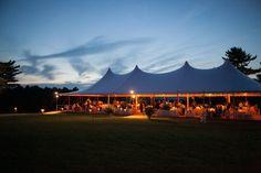 Wedding Tent Under Moonlight. ©Sara Wight Photography