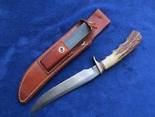 RARE ORIGINAL VIETNAM ERA RANDALL KNIFE AND SHEATH WITH SHARPENING STONE