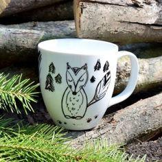 Ručně malovaný hrneček *LIŠÁK MATĚJ*, porcelán, 300 ml Mugs, Tableware, Dinnerware, Cups, Mug, Dishes