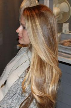 Pretty blond highlights Women's long hairstyles hair cut color by janice