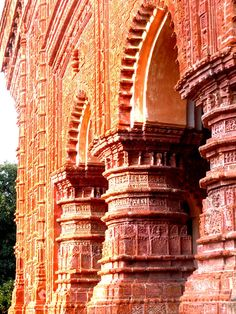 Terracotta temple in West Bengal, India (17-18th century AD)