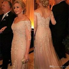 Mother Of The Bride Dresses Tulle Lace Sequined 3/4 Long Sleeves Evening Dress Deep V Neck Appliques Groom Mother Formal Prom Gowns Jade By Jasmine Mother Of The Bride Dresses Karen Miller Mother Of The Bride Dresses From Click_me, $122.62| Dhgate.Com