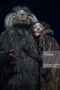 SINGAPORE - JANUARY 13: (L-R) Performer Martin Croft plays the character Old Deuteronomy and Erin Cornell as Grizabella for the musical 'CATS' during a media preview at the Marina Bay Sands Mastercard Theatre on January 13, 2015 in Singapore. The musical by Andrew Lloyd Webber, holds the record for one of the longest running musical in West End history playing for 21 years and will make a return to Singapore from January 9 to February 1, 2015. (Photo by Suhaimi Abdullah/Getty Images)