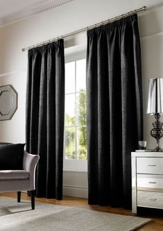Buy Ashford Black lined curtains online from Woodyatt Curtains. Delivery within working days. Black Lined Curtains, Plain Curtains, Curtains, Panel Curtains, Home, Black Curtains, Plastic Curtains, Home Collections, Solid Curtains
