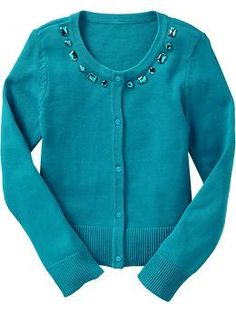 Girls Faux-Gem Embellished Cardis | Old Navy