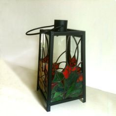 Stained Glass Patio Lantern - Autumn Leaves. $225.00, via Etsy.