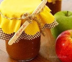Crock Pot Applesauce | Skinnytaste - For my breakfast baking. Apples & Cinnamon, marriage made in heaven!