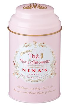 Marie Antoinette Original Pink Tin by NinasParisTea on Etsy, $25.00
