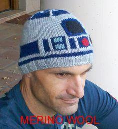 Droid ski toque/hat - Icy Hoth edition, MERINO WOOL. $60.00, via Etsy.