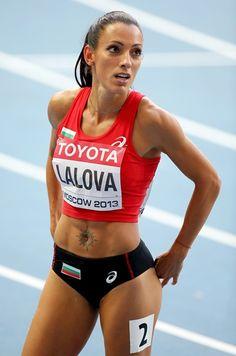 Hairy female athletes