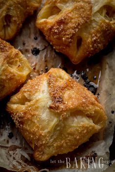 Easy Apple Turnovers with Puff Pastry - Let the Baking Begin! Apple Turnovers With Puff Pastry, Peach Puff Pastry, Rough Puff Pastry, Puff Pastry Desserts, Frozen Puff Pastry, Puff Pastry Sheets, Puff Pastry Recipes, Apple Strudel, Choux Pastry