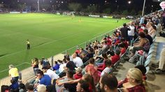 In stark contrast to rugged-up fans the night before in southern climes, short-sleeved fans of Darwin Olympic SC enjoyed the FFA Cup being in town for the first time – if not the result. Adelaide United beat the local team 1-6 before a record crowd of a little over 3,000. 07.08.15