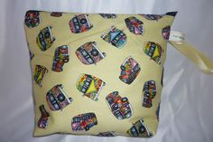 CAMPERVAN MAKE UP BAG TOILETRY BAG BLUE RED CERISE PINK YELLOW NEW RETRO