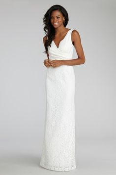 White chantilly lace dress
