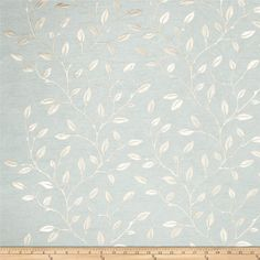 Trend 02297 Embroidered Dupioni Spa from @fabricdotcom  This beautiful teal faux dupioni fabric features champagne/bronze embroidery with a lovely sheen. Perfect for window treatments (draperies and swags), duvet covers, and toss pillows.