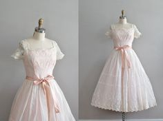vintage 1950s Only Love party dress