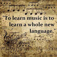 Aprender música es aprender todo un nuevo lenguaje.