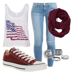 """""""Casual"""" by parker1126 on Polyvore featuring Frame Denim, Converse and Athleta"""
