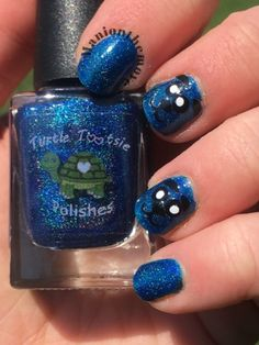Blue Bears using Winter Blues by Turtle Tootsie Polishes & Toadarrific Vinyls