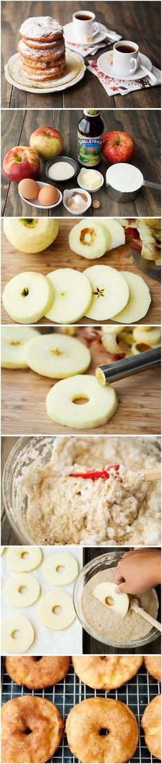 Apple Fritters - Use egg replacer