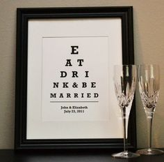 Perfect if you're marrying an optometry student llovebird