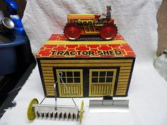 Marx Tractor Farm Set w Tractor Shed