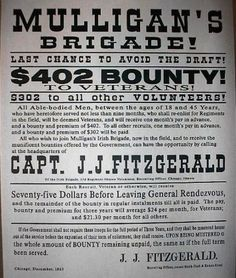 Civil War Mulligan's Irish Brigade Recruiting Broadside