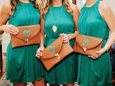 monogrammed clutch. Nice bridesmaid gift