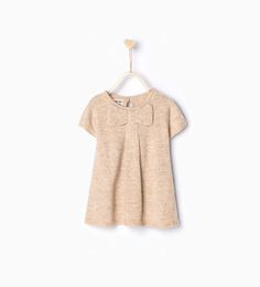 Knit dress with bow-Dresses and Jumpsuits-Baby girl-Baby | 3 months - 3 years-KIDS | ZARA United States