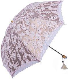 7f30aa2fa9b Amazon.com   Zero Transmittance Super Prevent Sun Index 50+ Two Folding  Ladies Umbrella Thicken Lace Female Parasol Sun Shade Anti-uv   Sports    Outdoors