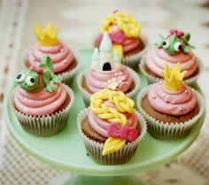 Disney Inspired Baby Shower Cupcakes for Girls - Tangled