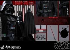 HOT TOYS MMS279 A NEW HOPE DARTH VADER NEW SEALED IN BROWN SHIPPER US SELLER