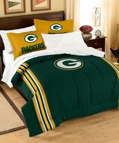 Another great find on #zulily! Green Bay Packers Bedding Set #zulilyfinds