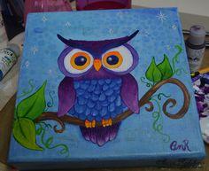 owl painting on canvas - Поиск в Google