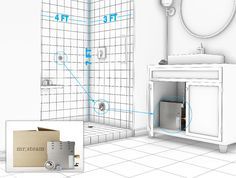 Steam Shower Installation starts with a steam-tight enclosure. The health benefits are obvious - some tips for fitting a system into a small bath. Steam Room Shower, Brown Bathroom, Steam Showers Bathroom, Small Bathroom, Master Bathroom, Bathrooms, Best Steam Cleaner, Bathroom Images, Bathroom Ideas