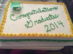 Preschool graduation cake.